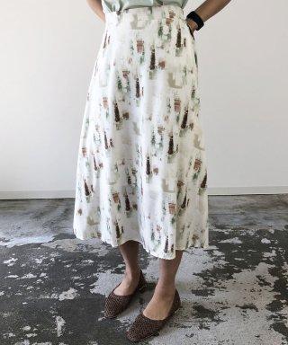【anticrag】アートプリントフレアスカート