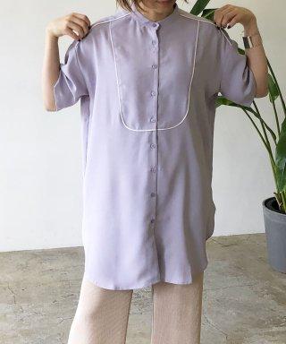 トロピカルサテンパイピングシャツ