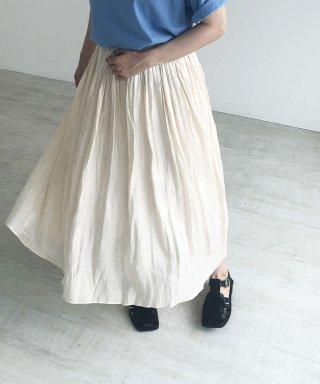 シャイニープリーツロングスカート