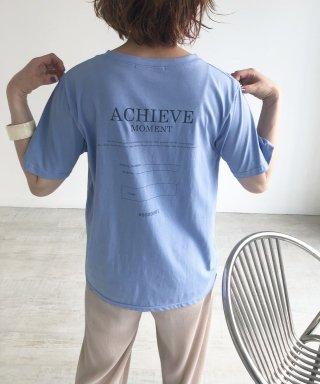 ACHIEVEバックプリントTシャツ