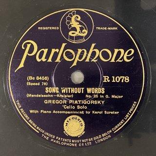 グレゴール・ピアティゴルスキー(vc): 無言歌第25番ト長調op.62-1「五月のそよ風」(メンデルスゾーン)/ スケルツォ(フェルツァー)