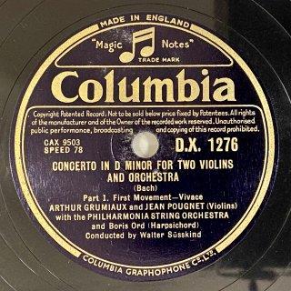 アルテュール・グリュミオー(vn): 2つのヴァイオリンの為の協奏曲ニ短調BWV.1043(バッハ)