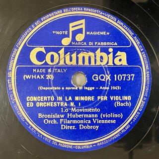 ブラニスワフ・フーベルマン(Vn): ヴァイオリン協奏曲第1番イ短調BWV.1041(バッハ)