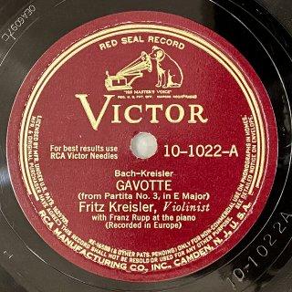 フリッツ・クライスラー(Vn): 無伴奏パルティータ第3番より「ガヴォット」(バッハ=クライスラー)/ ベートーヴェンの主題によるロンディーノ(クライスラー)