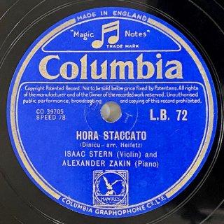 アイザック・スターン(Vn): ホラ・スタッカート(ディニーク) / ブラジルの郷愁より第8曲「ティジュカ」op.67-8(ミヨー)