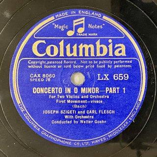 ヨーゼフ・シゲティ(Vn): 2つのヴァイオリンの為の協奏曲ニ短調BWV.1043(バッハ)