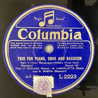 フランシス・プーランク(P): ピアノ,オーボエ,ファゴットの為の三重奏曲(プーランク)