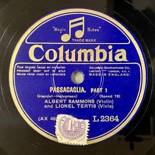 アルバート・サモンズ(Vn): 組曲第7番ト短調HWV.432より「パッサカリア」(ヘンデル)