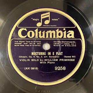 ウィリアム・プリムローズ(Vn): 夜想曲第2番変ホ長調op.9-2(ショパン) / 無伴奏パルティータ第3番より「ガヴォット」(バッハ)
