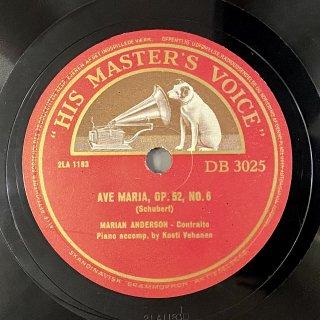 マリアン・アンダーソン(Alt): アヴェ・マリアop.52-6/白鳥の歌より「わが家」(シューベルト)