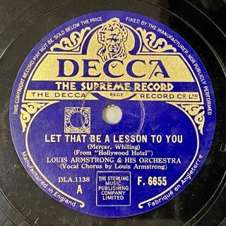 ルイ・アームストロング(tp,vo) : Let That Be A Lesson To You from / Sweet As A Song
