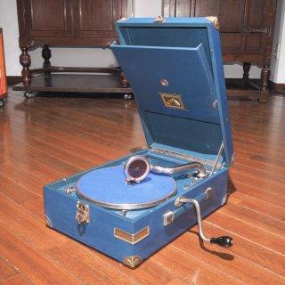 ポータブル蓄音機 HMV101 F (青色)