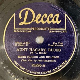 エディ・コンドン(bj,g) : AUNT HAGAR'S BLUES / ROSE OF THE RIO GRANDE
