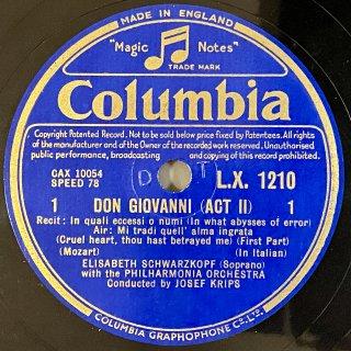 エリザベート・シュヴァルツコップ(Sop) : ドン・ジョヴァンニより「なんというふしだらな」「あの恩知らずは約束を破って」(モーツァルト)