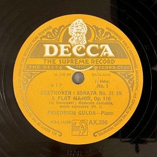 フリードリヒ・グルダ(P) : ピアノソナタ第31番 変イ長調 op.110 /11のバガテルよりOp.119-11~6つのエコセーズ(ベートーヴェン)