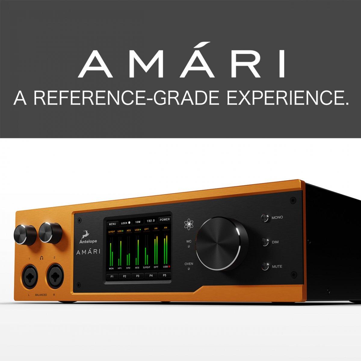 【即納!エネルギッシュ&ハイレゾリューション】Antelope Audio AMARI 高性能DAC ヘッドフォン アンプ アンテロープ オーディオ