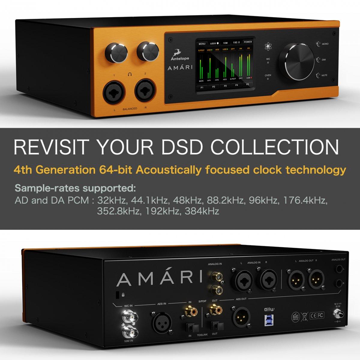 【ハンドメイドケーブルペア プレゼント!】Antelope Audio AMARI 高性能DAC ヘッドフォン アンプ アンテロープ オーディオ