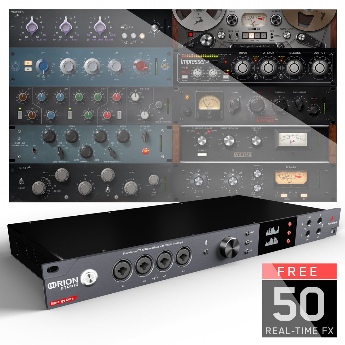 【6 x DSP + 2 x FPGAによる驚くべきサウンド、パワー! 】Antelope Audio Orion Studio Synergy Core