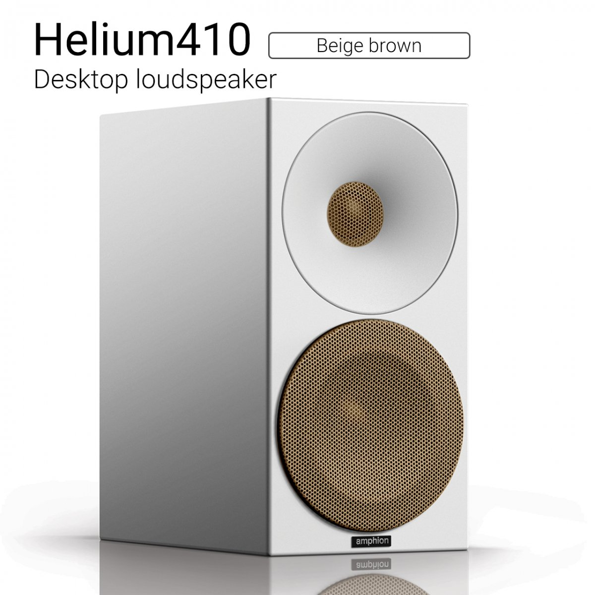 【クーポンでお得!】Helium410 (Beige brown) Desktop loudspeaker【ペア】