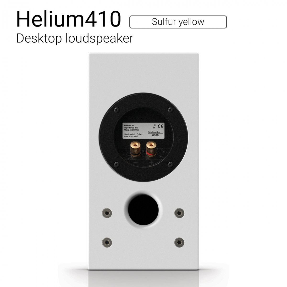 Helium410 (Sulfur yellow) Desktop loudspeaker【ペア】