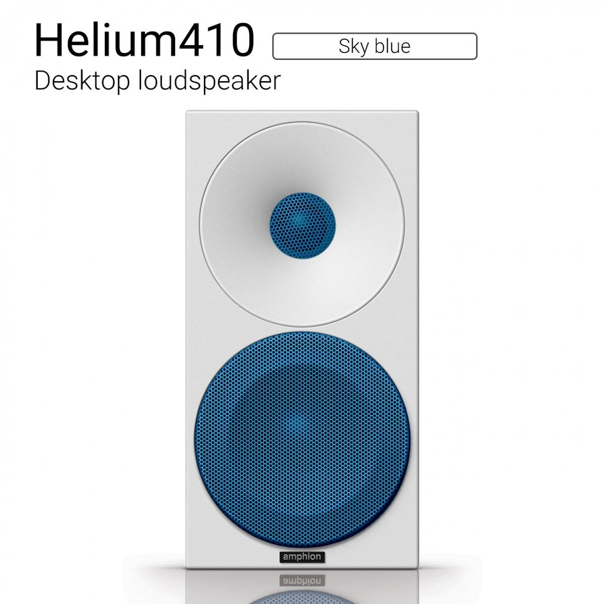 【優れた北欧センス】Helium410 (Sky blue) Desktop loudspeaker【ペア】
