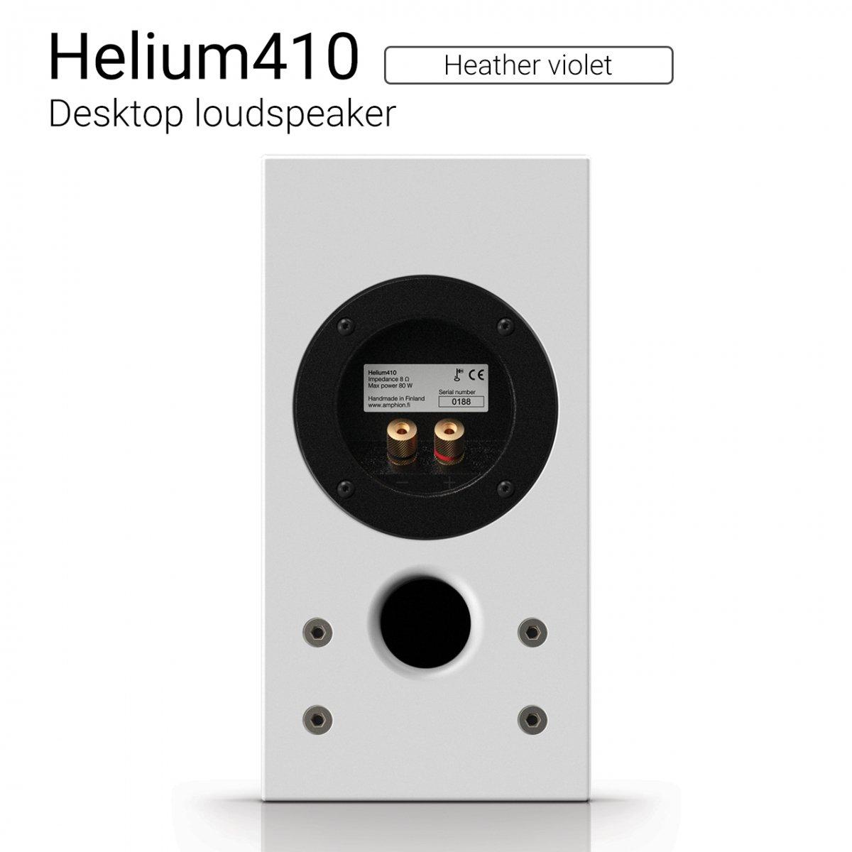 Helium410 (Heather violet) Desktop loudspeaker【ペア】