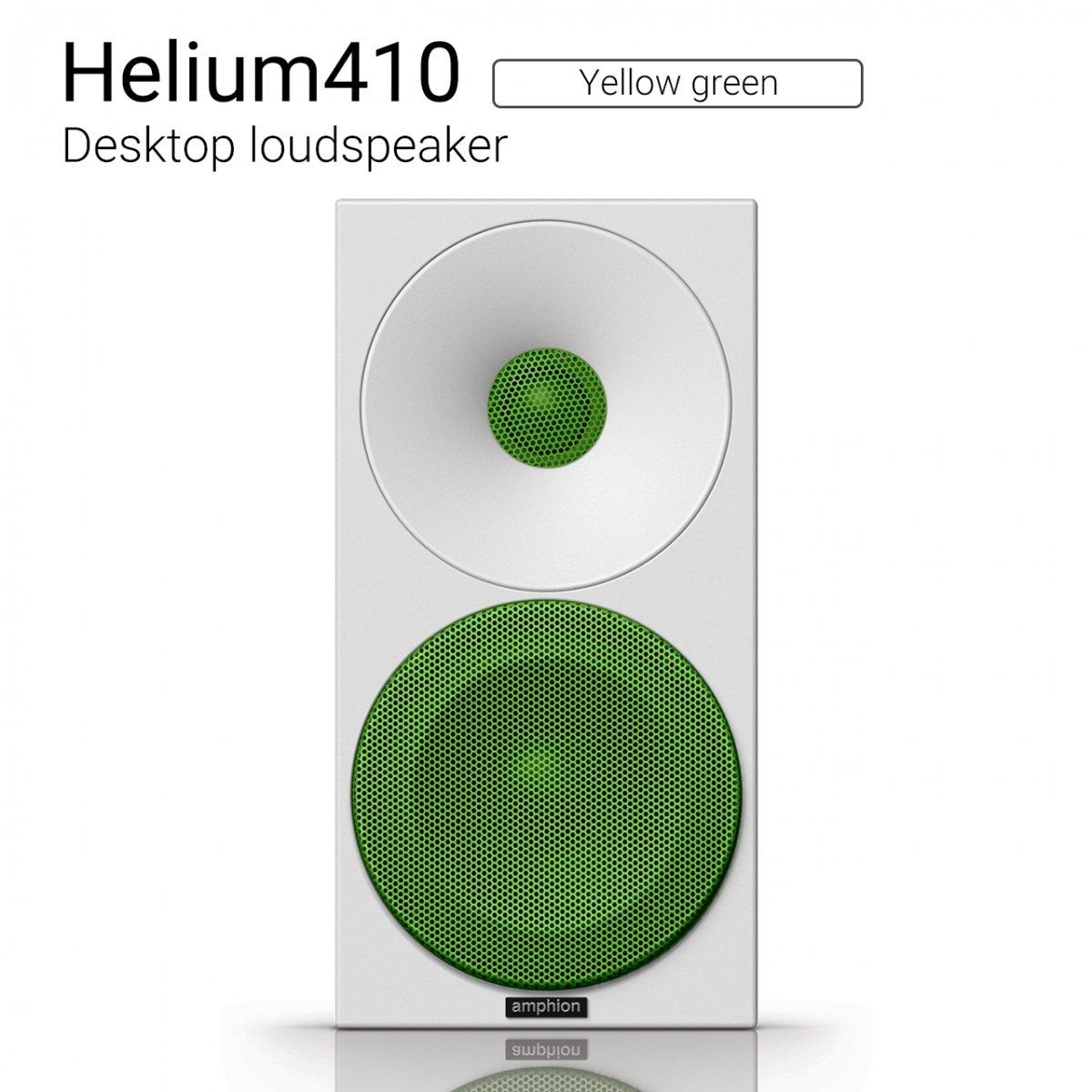 【優れた北欧センス】Helium410 (Yellow green) Desktop loudspeaker【ペア】