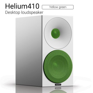 Helium410 (Yellow green) Desktop loudspeaker【ペア】