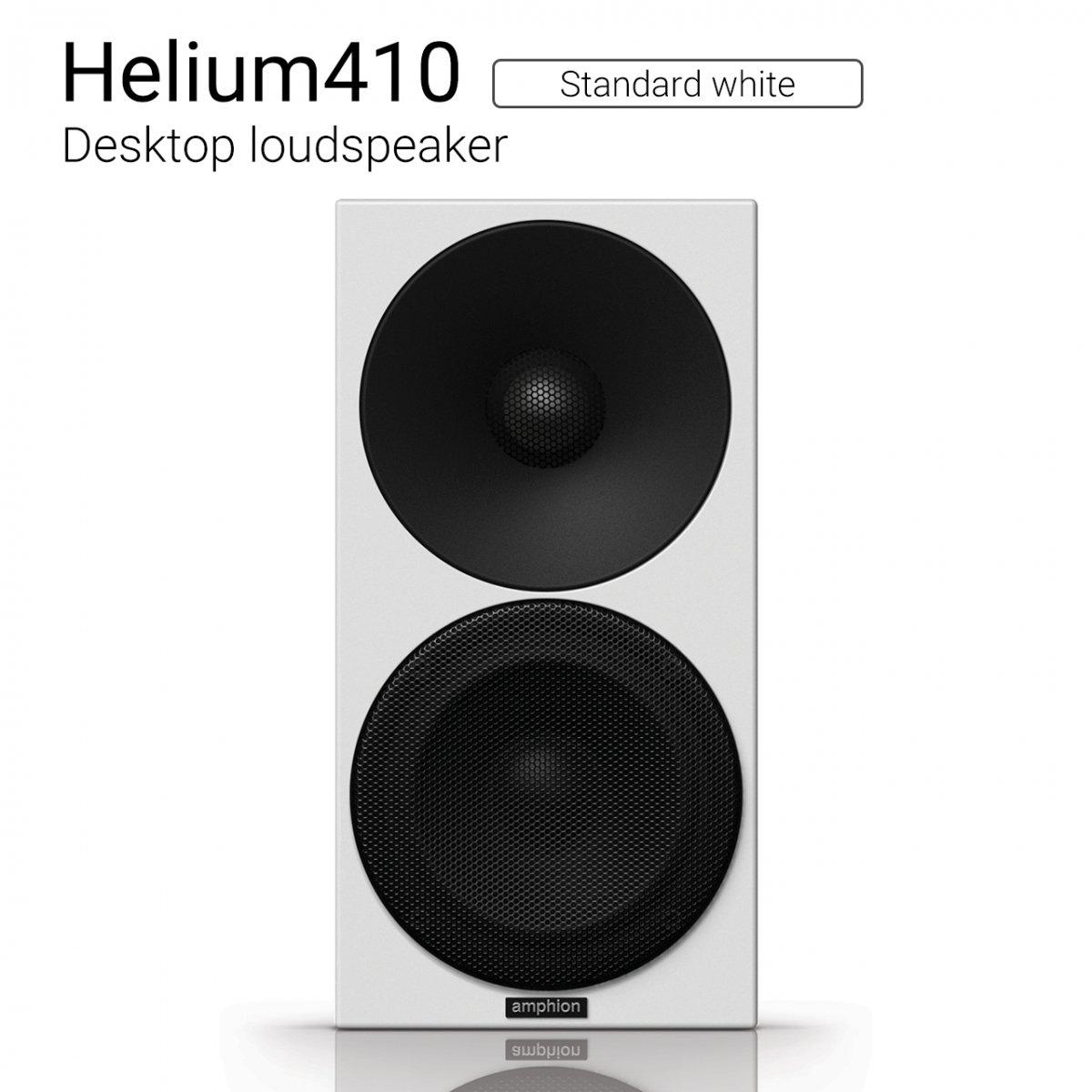 【優れた北欧センス】Helium410 (Standard white) Desktop loudspeaker【ペア】