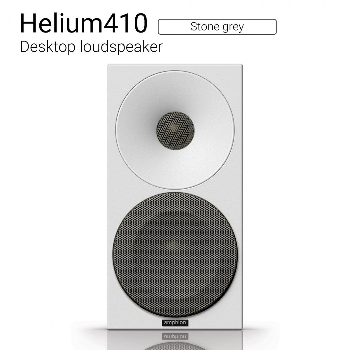 【クーポンでお得!】Helium410 (Stone grey) Desktop loudspeaker【ペア】