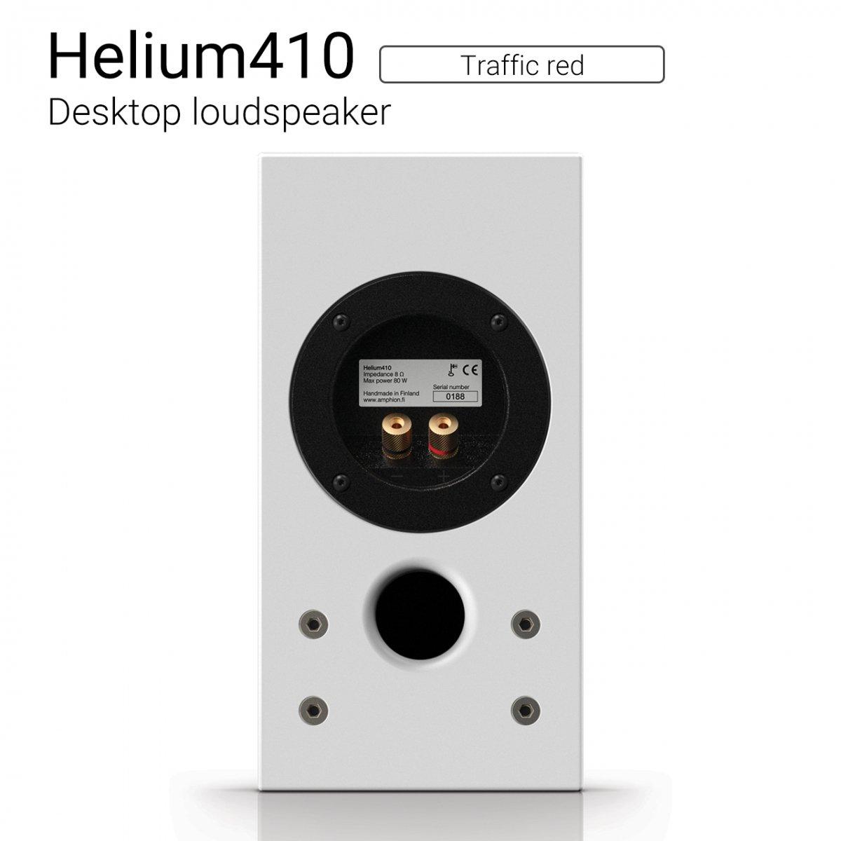 【優れた北欧センス】Helium410 (Traffic red) Desktop loudspeaker【ペア】