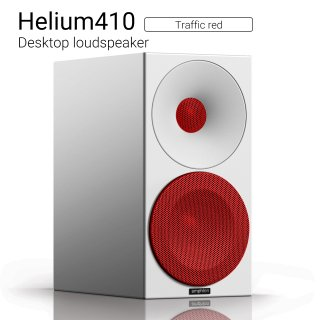 Helium410 (Traffic red) Desktop loudspeaker【ペア】