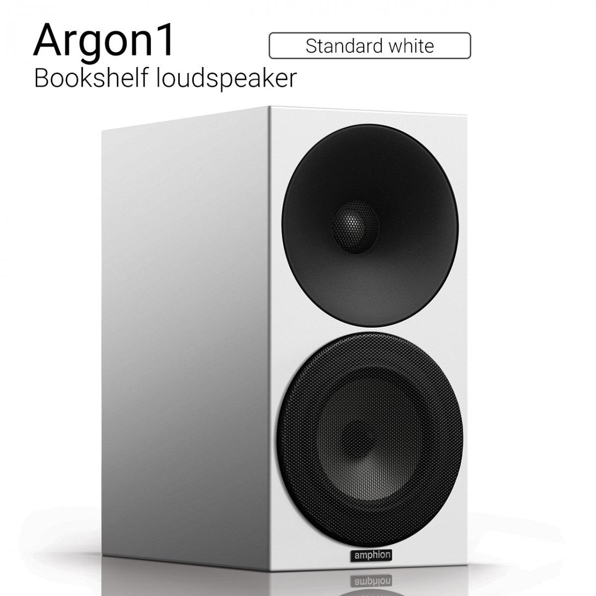 【シンプル&ナチュラルサウンド】Argon1 (Standard white) Bookshelf loudspeaker【ペア】