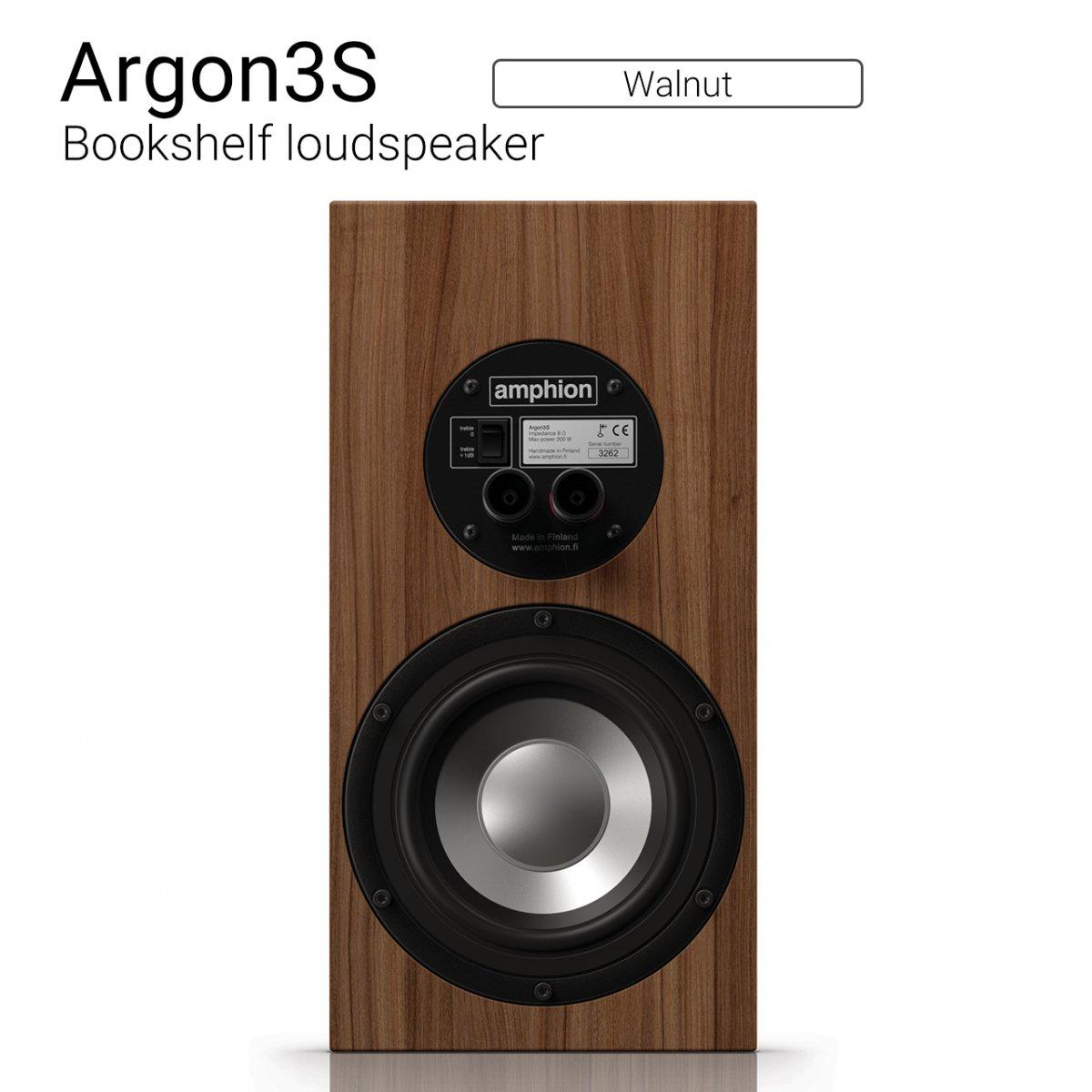 Argon3S (Walnut) Bookshelf loudspeaker【ペア】