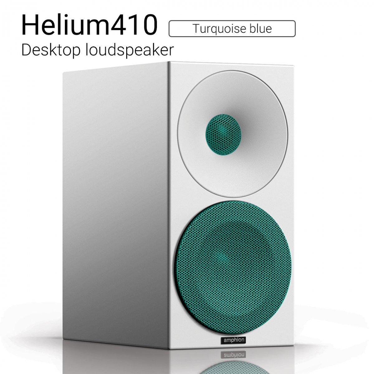 Helium410 (Turquoise blue) Desktop loudspeaker【ペア】