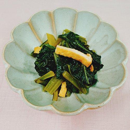 こだわり醤油が効いてる小松菜の煮浸し(70g)商品画像