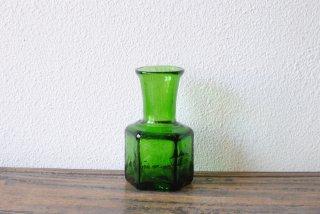 【太田潤】六角花瓶 グリーン