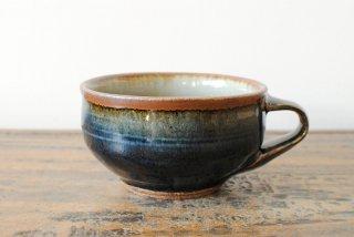 【森山窯】スープカップ 瑠璃釉