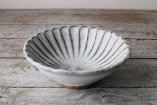 【丹波焼・俊彦窯】鉢(16cm)しのぎ 糠釉