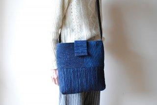 【佐藤多香子】裂織ショルダーバッグ 藍