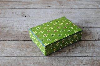 【桂樹舎】はがき箱 あられ菱 緑
