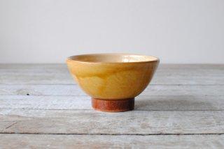 【湯町窯】飯碗 中 黄釉