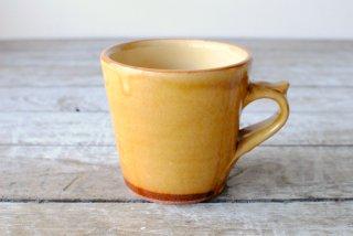 【湯町窯】切立カップ(マグカップ)黄釉