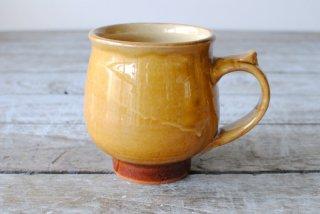 【湯町窯】モーニングカップ(マグカップ)黄釉