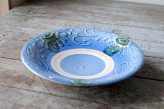 【やちむん・読谷】7寸皿 藍いっちん