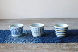 【佐藤多香子】裂織テーブルランナー 藍濃淡