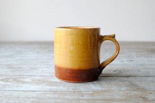 【湯町窯】ミルク呑(マグカップ)黄釉