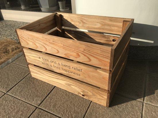木製ボックス(ブラウン)