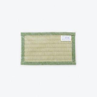 ミニ置物敷長方形(角通し 緑)
