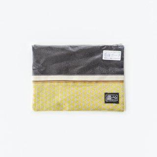 畳縁ポーチ[大](鱗 黄色)